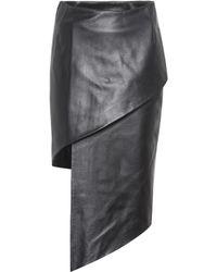 Vetements - Asymmetric Leather Skirt - Lyst