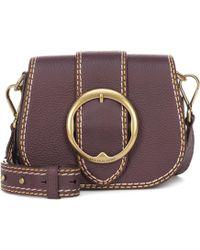 79740bca39aa ... Belt Saddle Lennox Medium Crossbody In Multicolor Brown Calfskin - Lyst  · Polo Ralph Lauren - Lennox Leather Crossbody Bag - Lyst