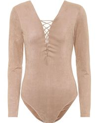 T By Alexander Wang - Lace-up Bodysuit - Lyst