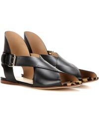 Francesco Russo - Crossover Leather Sandals - Lyst