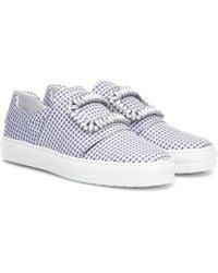 Roger Vivier - Verzierte Sneakers Sneaky Viv' - Lyst