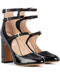 Valentino - Garavani Patent Leather And Satin Pumps - Lyst