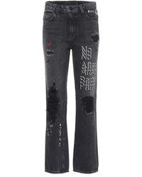 Alexander Wang - Distressed Jeans aus Baumwolle - Lyst