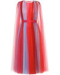 Carolina Herrera - Tulle Midi Dress - Lyst