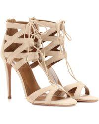 Aquazzura - Beverly Hills 105 Suede Sandals - Lyst