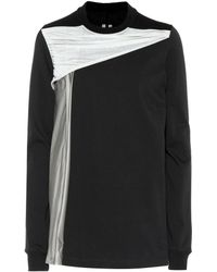 Rick Owens - Draped Cotton Jersey Sweatshirt - Lyst