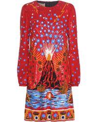 Valentino - Sequinned silk minidress - Lyst
