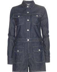 AG Jeans | Loretta Denim Playsuit | Lyst