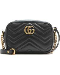 6c9fcbdaa7c77e Gucci - GG Marmont Mini Crossbody Bag - Lyst