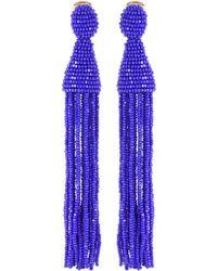 Oscar de la Renta - Tassel Clip-on Earrings - Lyst