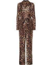 Dolce & Gabbana - Combi-pantalon en soie imprimée - Lyst