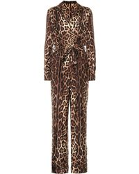 Dolce & Gabbana - Leopard-print Silk Jumpsuit - Lyst