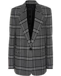 Acne Studios - Checked Wool-blend Blazer - Lyst