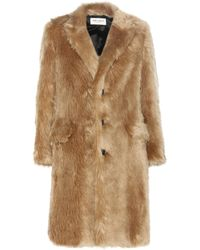 2f1d33d57ff7 Lyst - Saint Laurent Printed Goat Fur Coat in Natural