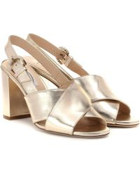 Tod's - Metallic Leather Sandals - Lyst