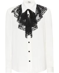 Miu Miu - Ruffle Bib Shirt - Lyst
