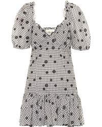 LoveShackFancy - Catalina Checked Cotton Minidress - Lyst