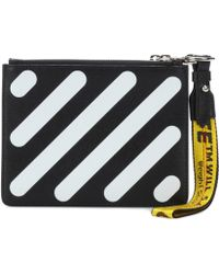 Off-White c/o Virgil Abloh - Diagonal Double Flap Leather Pouch - Lyst