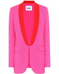 MSGM - Crêpe Single-breasted Blazer - Lyst