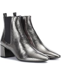 Saint Laurent - Loulou Leather Ankle Boots - Lyst