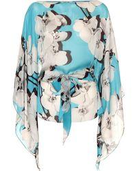 Roberto Cavalli - Floral-printed Silk Blouse - Lyst