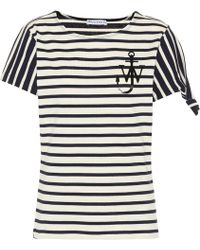JW Anderson - Striped Cotton T-shirt - Lyst