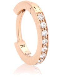 Repossi - Argolla única de oro rosa de 18 ct y diamantes Mini Créole - Lyst