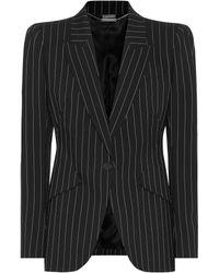 Alexander McQueen - Pinstripe Stretch-wool Blazer - Lyst