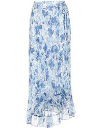 Polo Ralph Lauren - Floral-printed Silk Skirt - Lyst