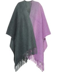 Acne Studios - Kelow Alpaca And Wool-blend Poncho - Lyst