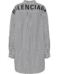 Balenciaga - Camisa de algodón de rayas oversize - Lyst
