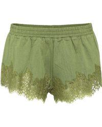 PUMA - Lace-trimmed Cotton Shorts - Lyst