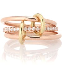 Spinelli Kilcollin - Sonny Gold 18kt Rose Gold And Diamond Ring - Lyst