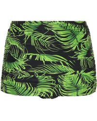 Norma Kamali - Bill Leaf-printed Bikini Bottoms - Lyst
