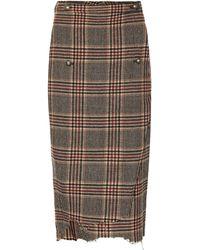 Vetements - Checked Wool Skirt - Lyst