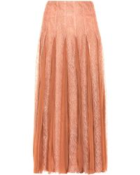 Valentino - Silk Skirt - Lyst