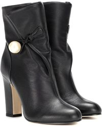 Jimmy Choo - Bethanie 100 Leather Ankle Boots - Lyst