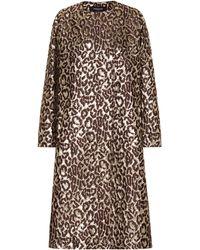 Rochas - Oxford Leopard Brocade Coat - Lyst