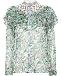 Dodo Bar Or - Embellished Floral Blouse - Lyst