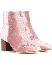 Rag & Bone - Drea Velvet Ankle Boots - Lyst