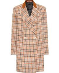 Golden Goose Deluxe Brand - Checked Wool Coat - Lyst