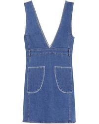 b2482eab7d31 Lyst - See By Chloé Long Sleeve Denim Dress Denim in Blue