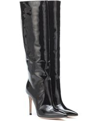 Gianvito Rossi - Heather 105 Black Patent Leather Boots - Lyst