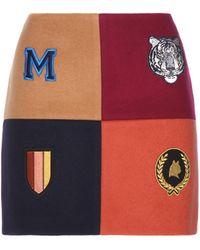 Stella McCartney - Embellished Wool-blend Miniskirt - Lyst