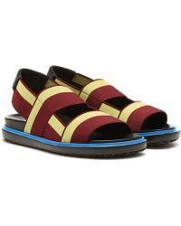 Marni - Striped Sandals - Lyst
