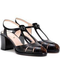 Fendi - Leather Sandals - Lyst