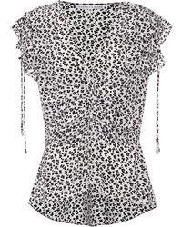 Veronica Beard - Floral-printed Silk Top - Lyst