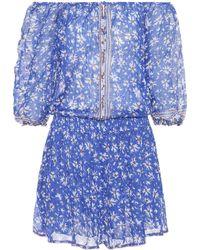 Poupette - Printed Cotton Dress - Lyst