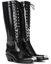 CALVIN KLEIN 205W39NYC - Western Faye Leather Lace-up Boots - Lyst