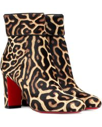 Christian Louboutin - Moulamax 85 Calfhair Ankle Boots - Lyst